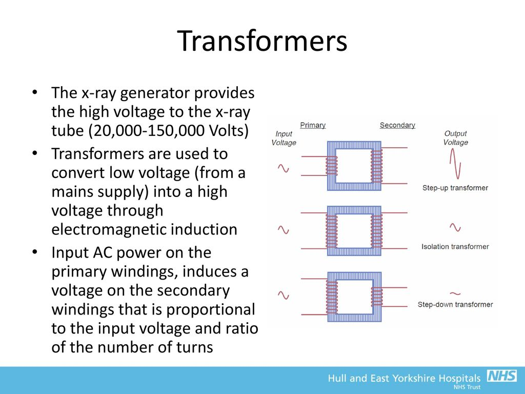 Frcr Physics Lectures Diagnostic Radiology Ppt Download X Ray Tube Block Diagram Transformers The Generator Provides High Voltage To