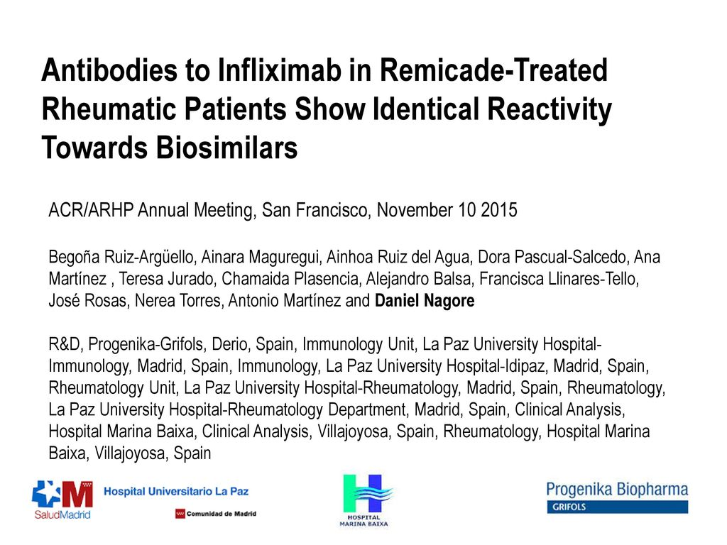 Antibodies to Infliximab in Remicade-Treated Rheumatic Patients Show