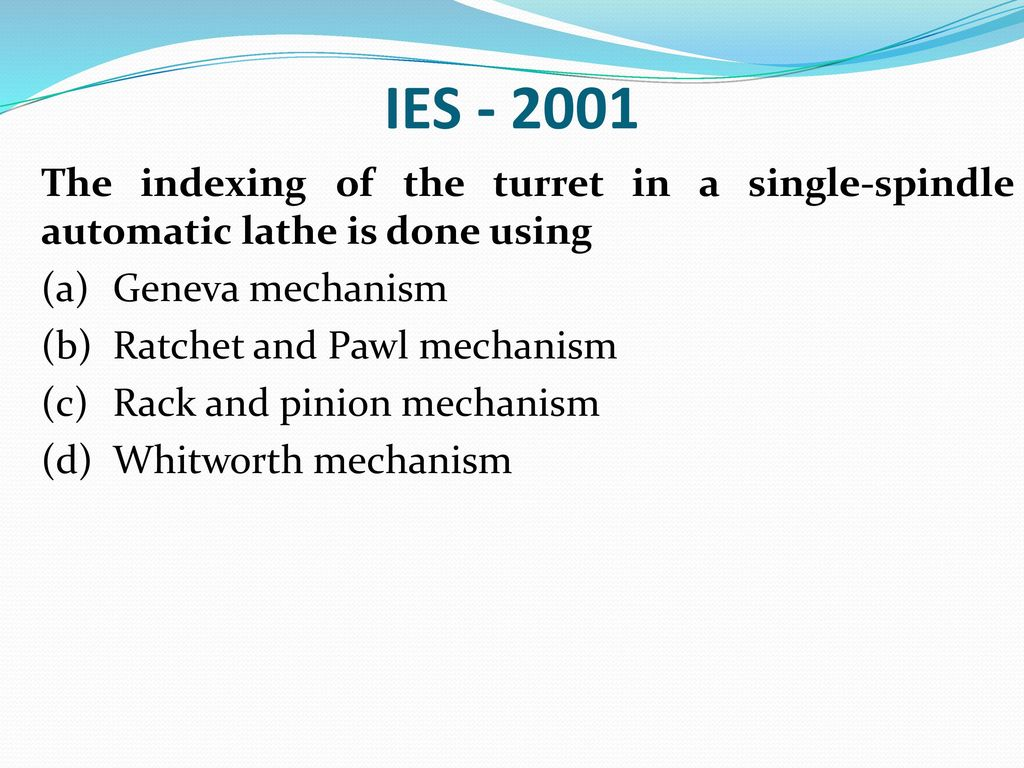 Turret Indexing Mechanism Pdf Download