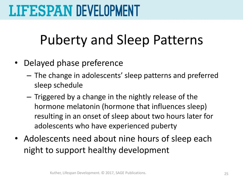Puberty And Sleep Patterns