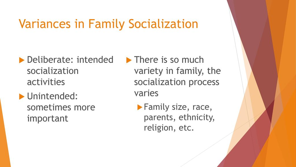 why is the family so important to the socialization process
