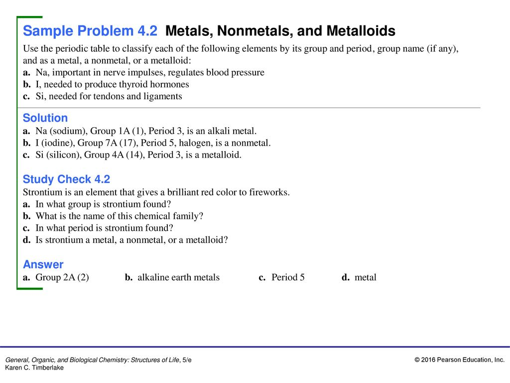 Sample Problem 41 Names And Symbols Of Chemical Elements Ppt Download