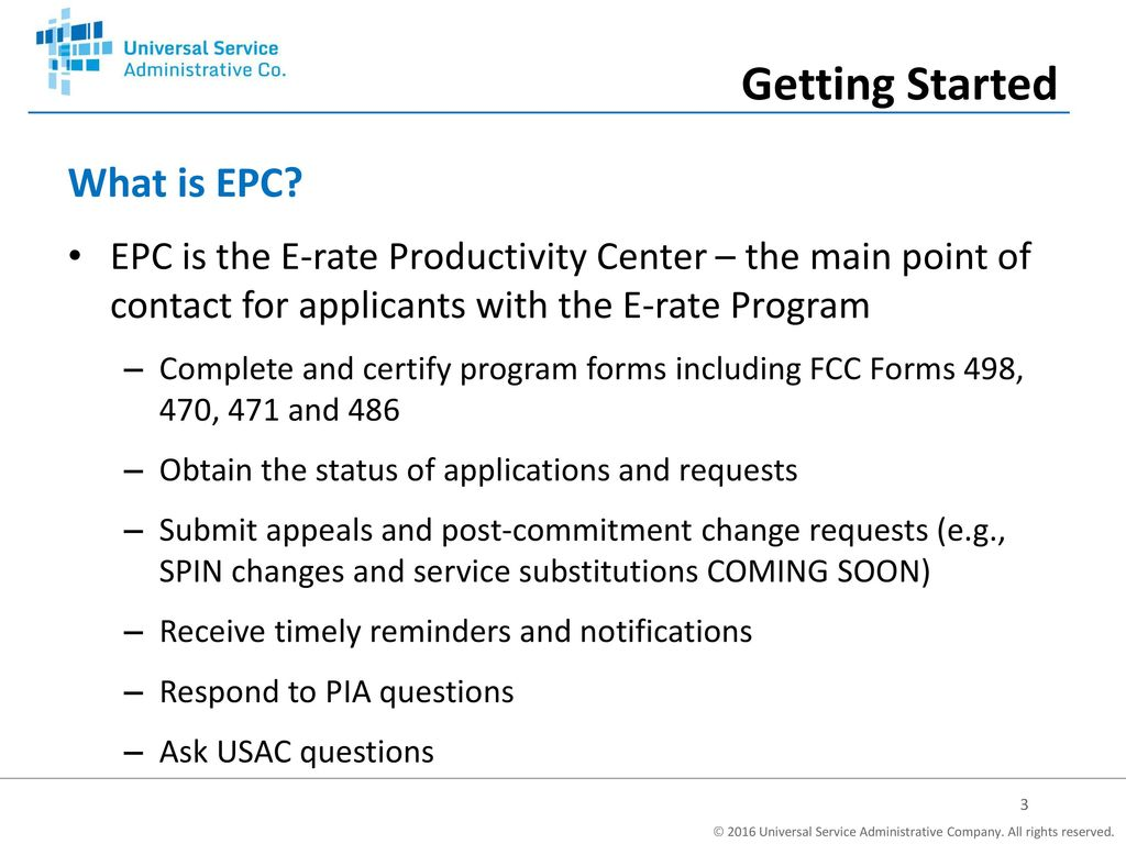 What Is Epc >> Epc Fundamentals E Rate Program Applicant Training Ppt