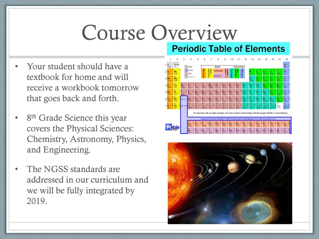 WELCOME to Mrs  Zatzke's 8th Grade Science Class! - ppt download