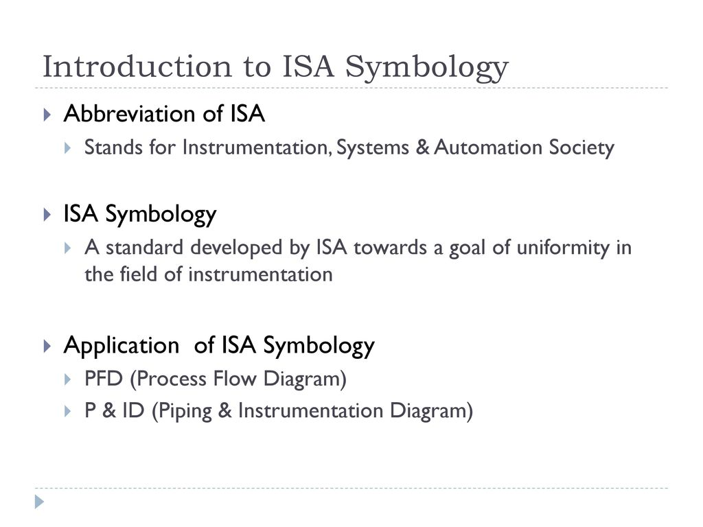 Process Instrumentation Introduction To Isa Symbology Ppt Download Standard For Flow Diagram 5