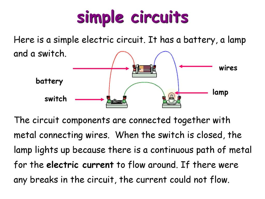 Direct Current Dc Electric Circuits Series And Parallel Ppt Download To A Battery The Other Is Connected Switch In Circuit Simple Here It Has Lamp