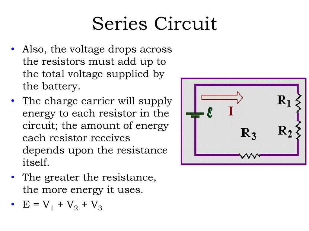 Direct Current Dc Electric Circuits Series And Parallel Ppt Download Voltage Drop In A Circuit