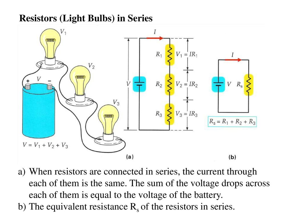 Direct Current Dc Electric Circuits Series And Parallel Ppt Download Voltage Drop In A Circuit 37