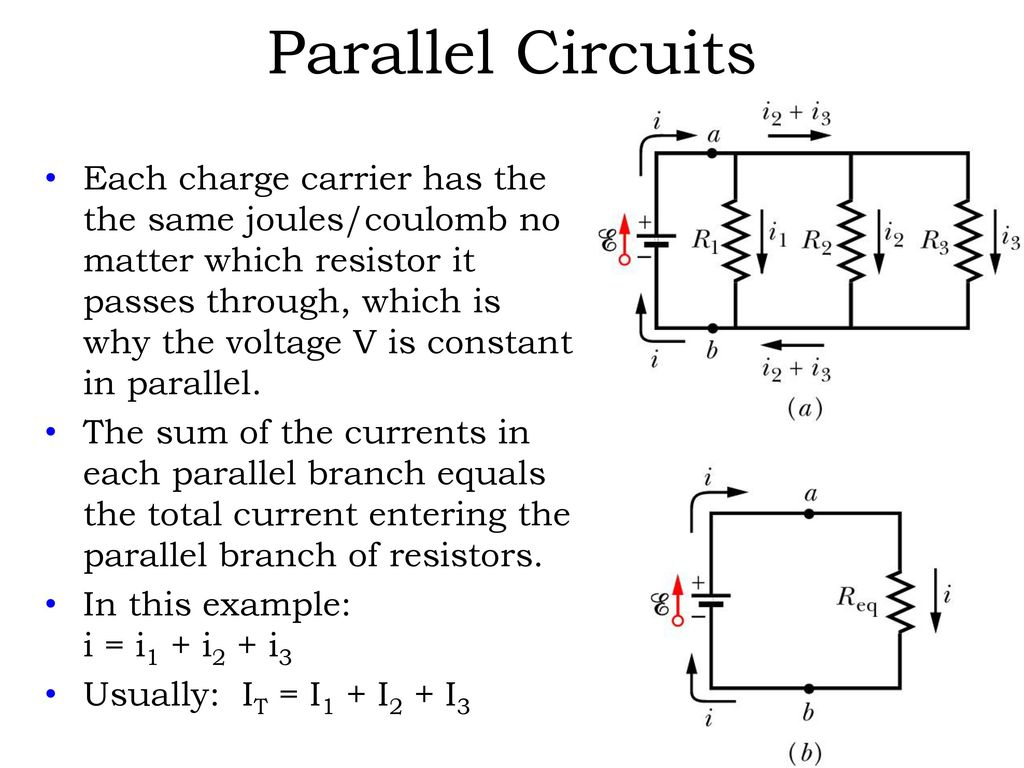 Direct Current Dc Electric Circuits Series And Parallel Ppt Download Resistor In Not So With A Circuit The Voltage Will 40 Resistors Have Same Drop