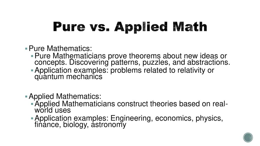 applied math examples