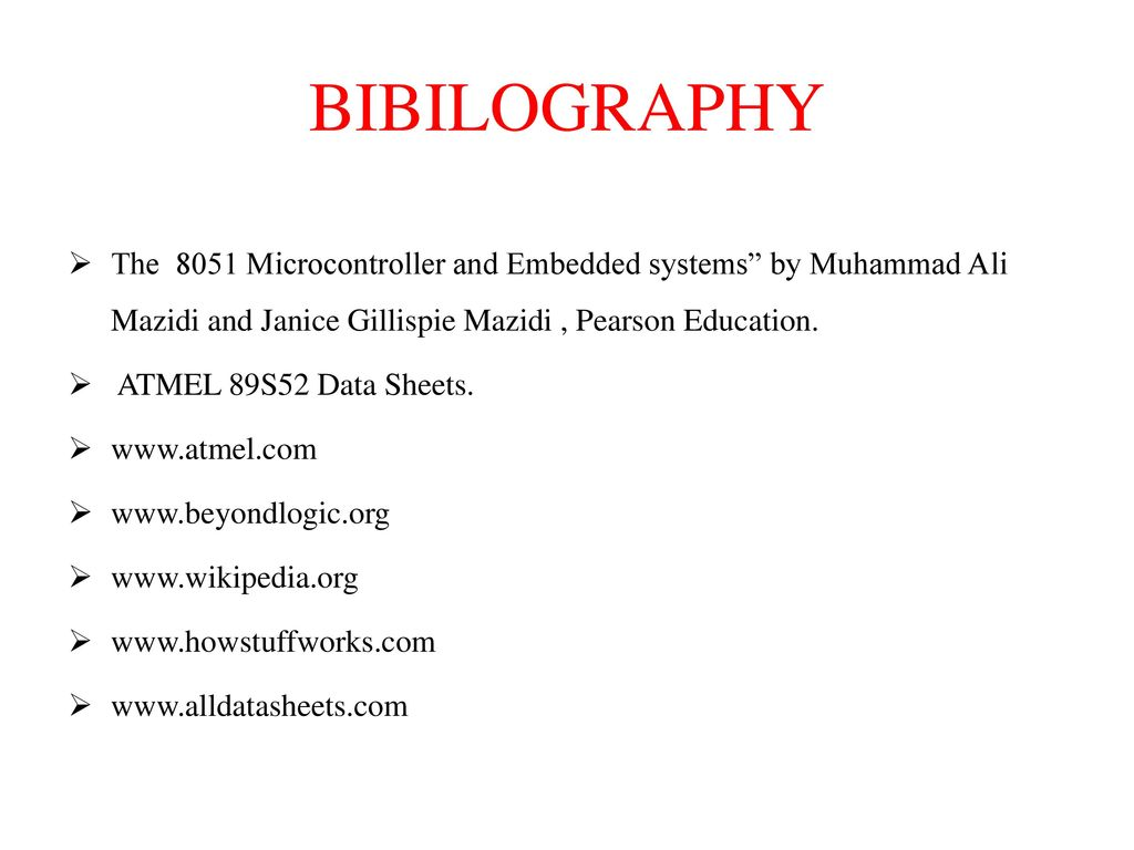 Up And Down Controlled Speed Of Dc Motor In Embedded System Ppt Frequency Pulse Width Measurement Using Microcontroller At89c51 Bibilography The 8051 Systems By Muhammad Ali Mazidi Janice Gillispie