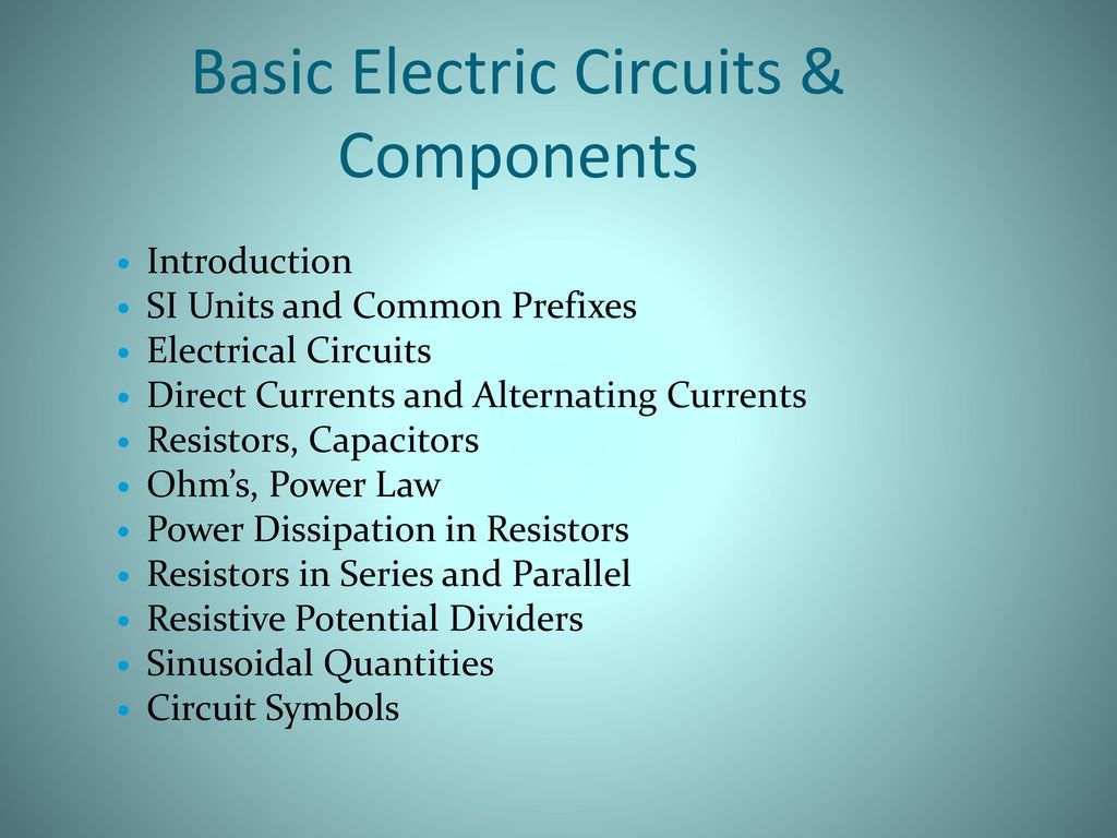 Unit 2 Using Tools Equipment And Other Devices Ppt Download Simple Electric Circuits Electrical Circuit Basic Components