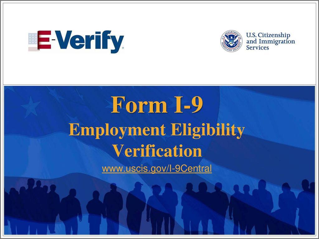 form i-9 presentation  Form I-10 Employment Eligibility Verification - ppt download