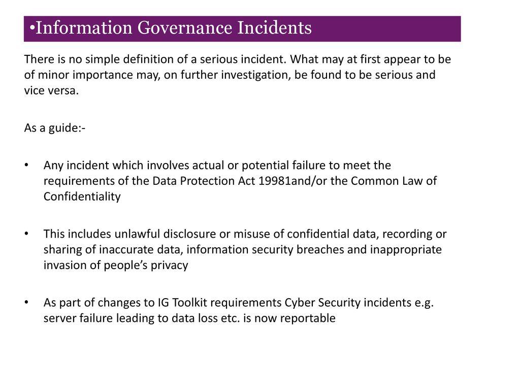 gp practice manager information governance training 2015/16 - ppt
