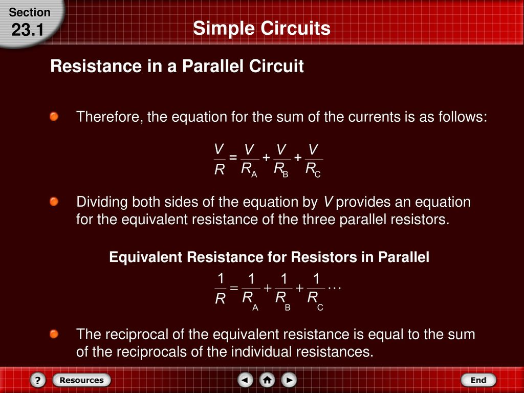 Series And Parallel Circuits Ppt Download Resistance In A Circuit Simple 231