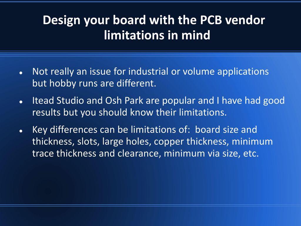 Delete this info page: KiCad Presentation Overview: Original