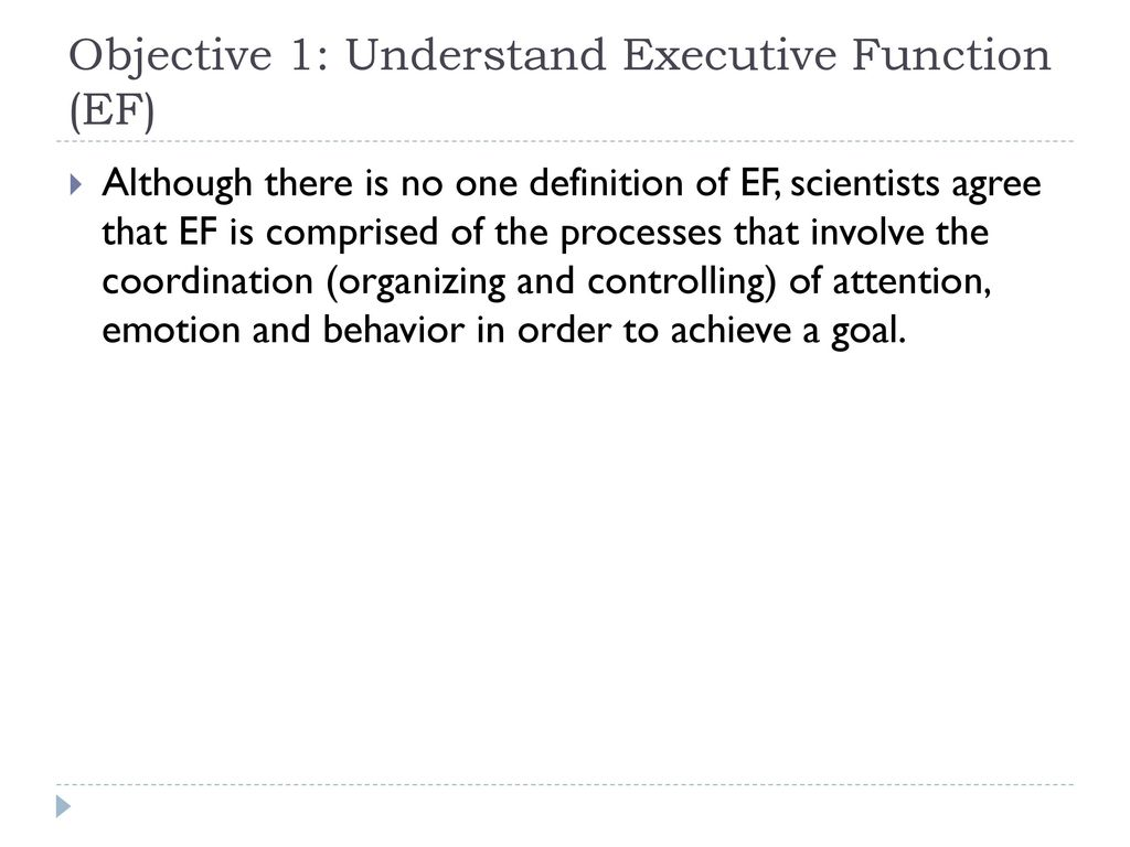 addressing executive function for student success - ppt download