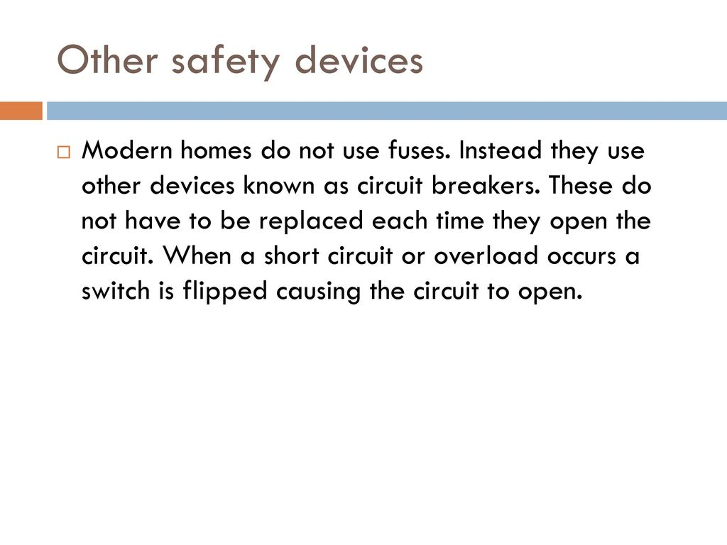 Circuits Ppt Download A Short Circuit Occurs When Or Overload Switch Is Flipped Causing The To Open Other Safety Devices