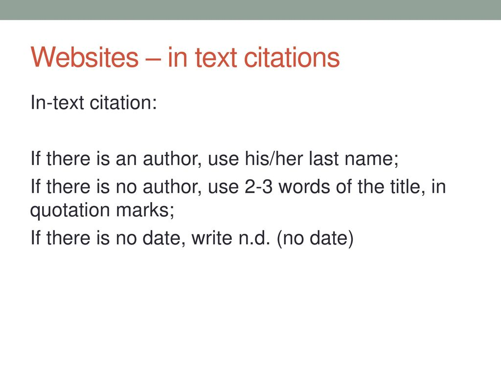 How To Cite In Text When There Is No Date idea gallery