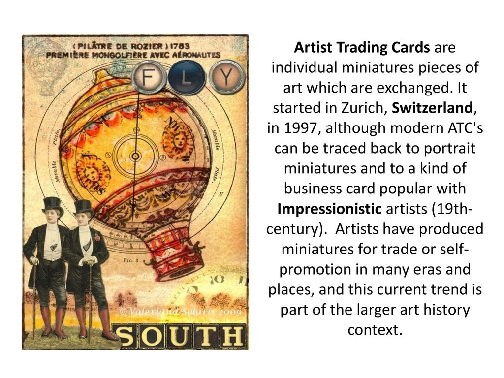 Artist trading cards ppt download 3 artist reheart Image collections