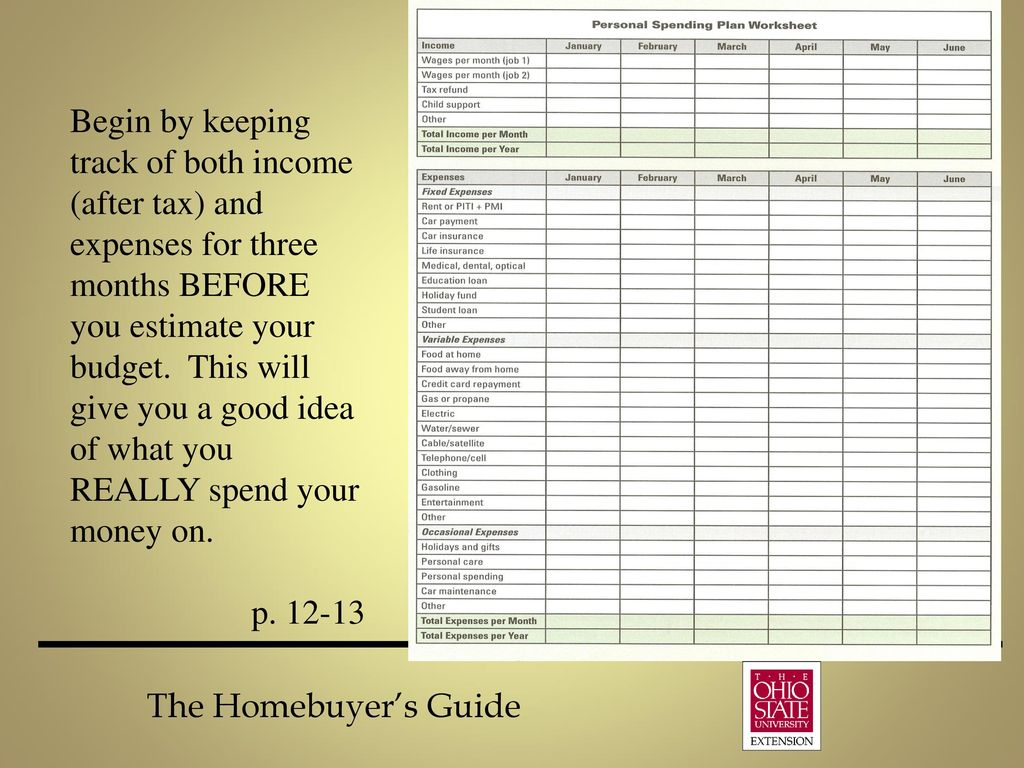 the homebuyer s guide chapter 2 money for housing ppt download