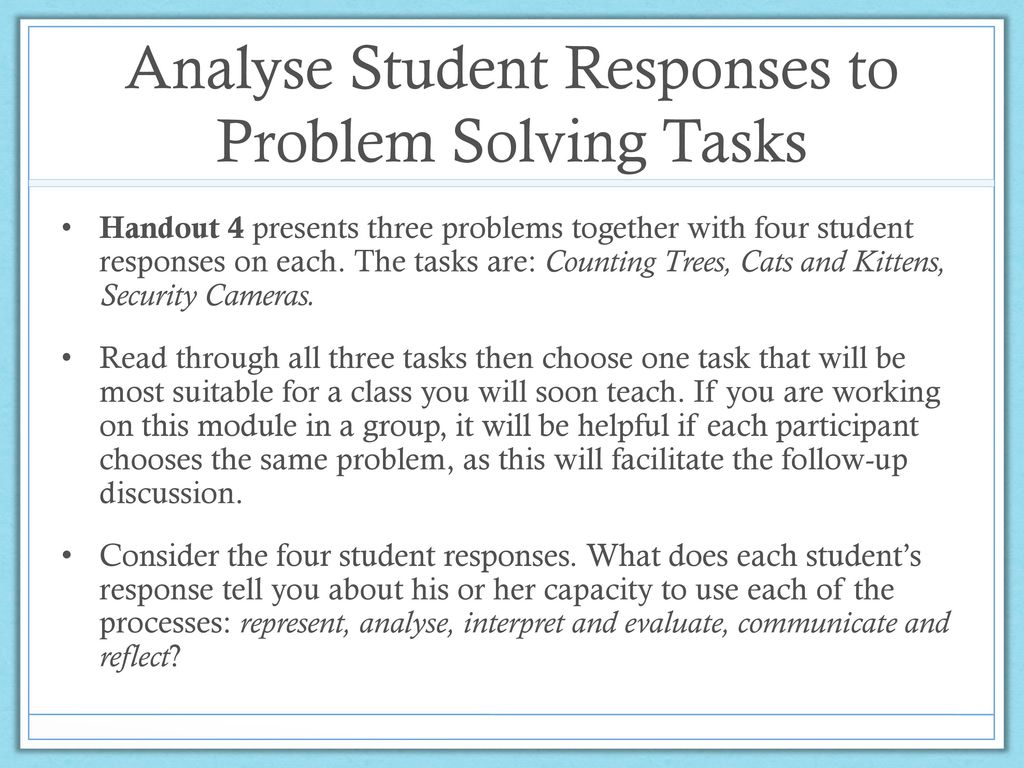 problem solving activities for groups