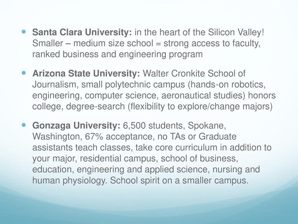 santa clara university engineering ranking