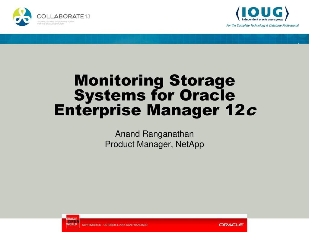 Monitoring Storage Systems for Oracle Enterprise Manager 12c