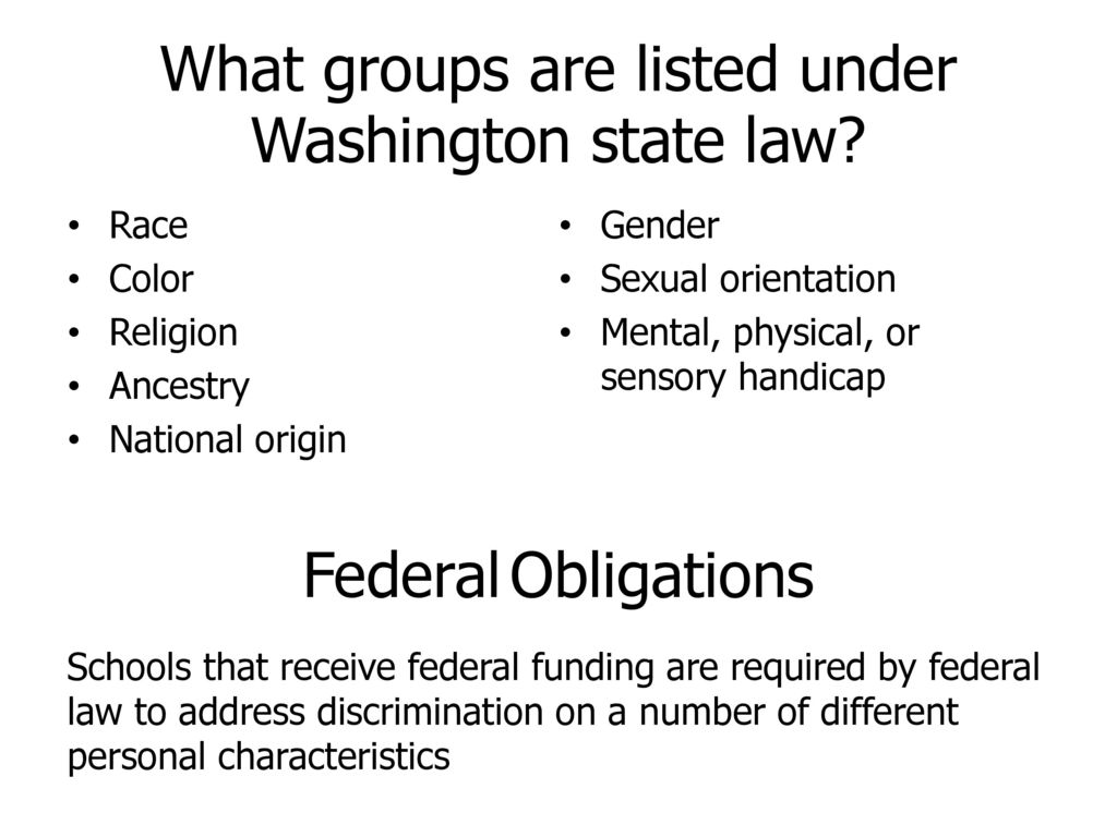 Sexual orientation discrimination washington state