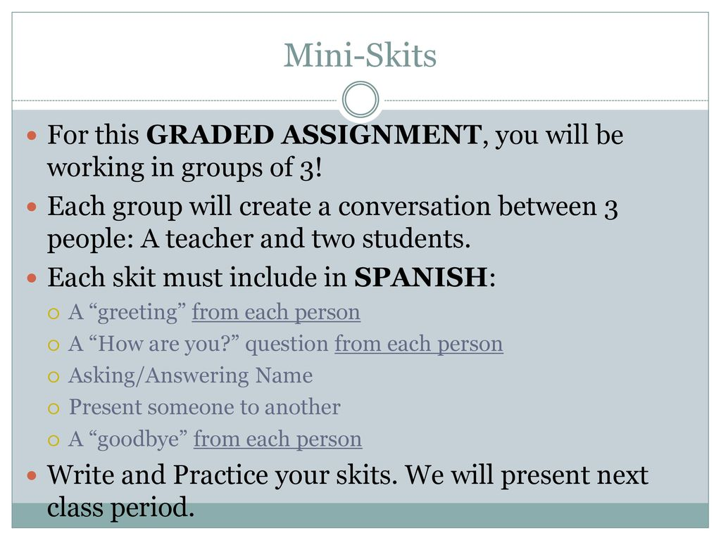 Challenge Spanish 7th Grade Ppt Download