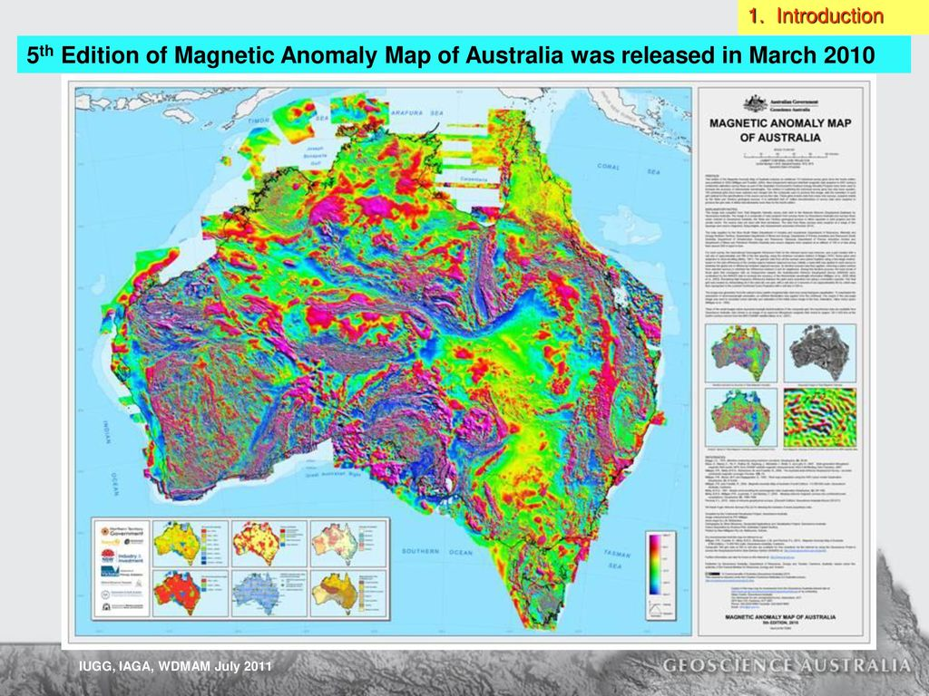 Magnetic Anomaly Map Of The World.Australian Government Ppt Download