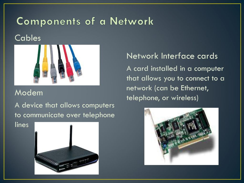 Unit 5 Introduction To Networking Ppt Download Telephone Network Interface Wiring Diagram Components Of A