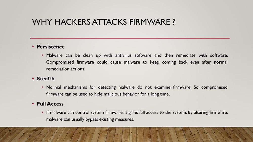 Firmware threat Dhaval Chauhan MIS ppt download