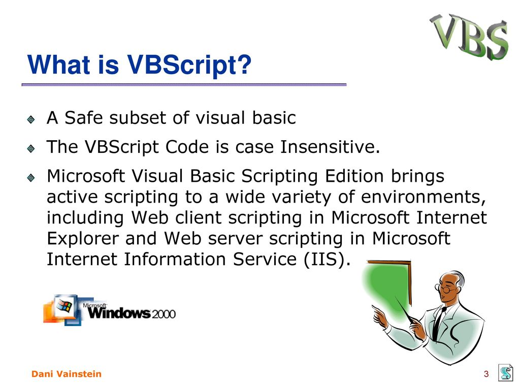 VBScript Session 1 Dani Vainstein  - ppt download