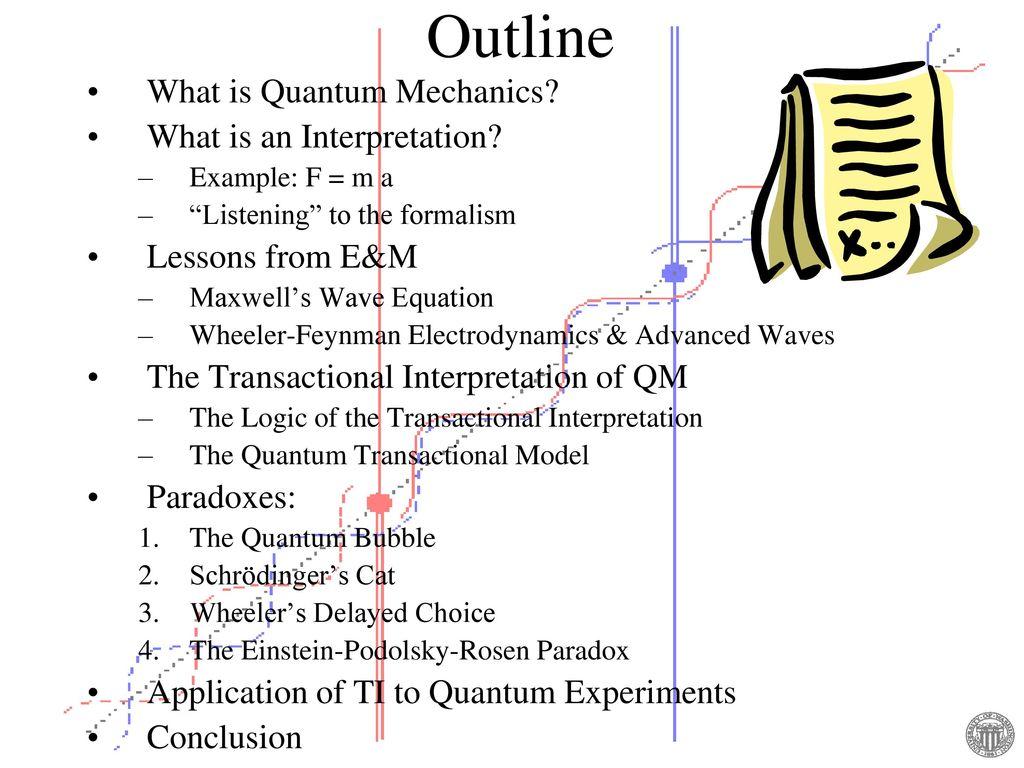 The Transactional Interpretation of Quantum Mechanics www - ppt download