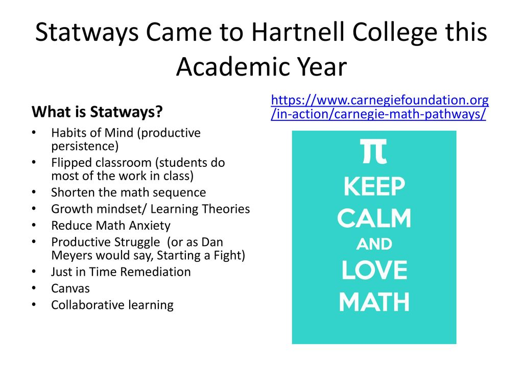 Hartnell College Student Success Committee: Habits of Mind Focus ...