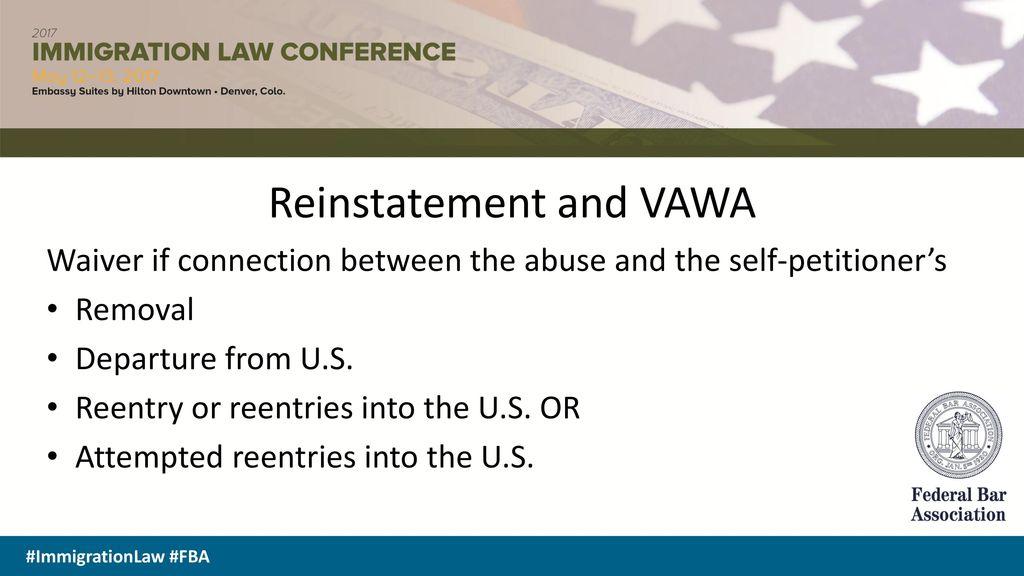 OVERCOMING ADJUSTMENT BARRIERS FOR VAWA AND U VISAS