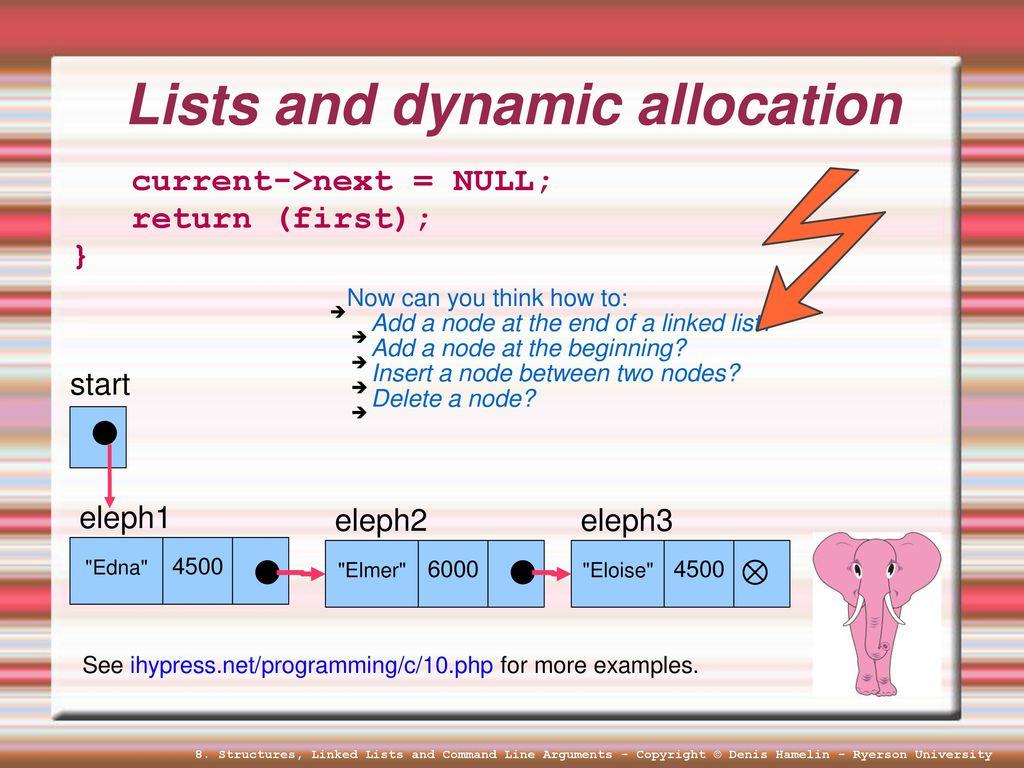 Lesson #8 Structures Linked Lists Command Line Arguments  - ppt download
