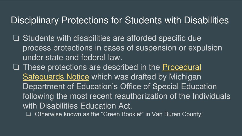 Procedural Safeguards Wyoming Department Of Education State >> Special Education Discipline Ppt Download