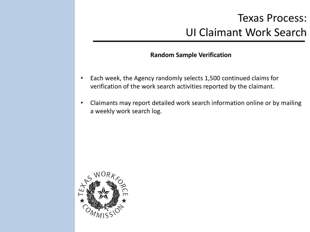 texas process ui claimant work search ppt download