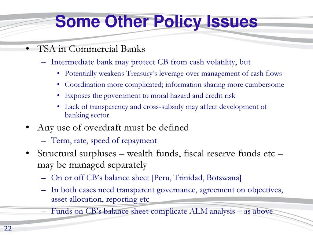 MoF/Treasury Interaction with the Central Bank - ppt download