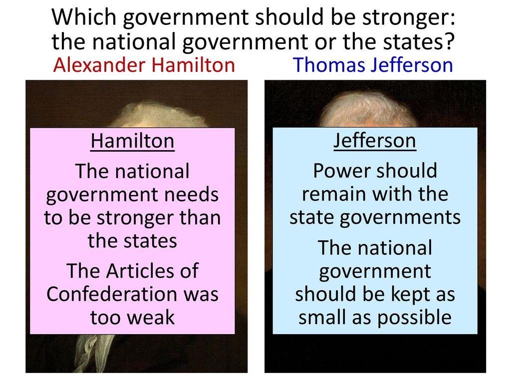 Alexander Hamilton Vs