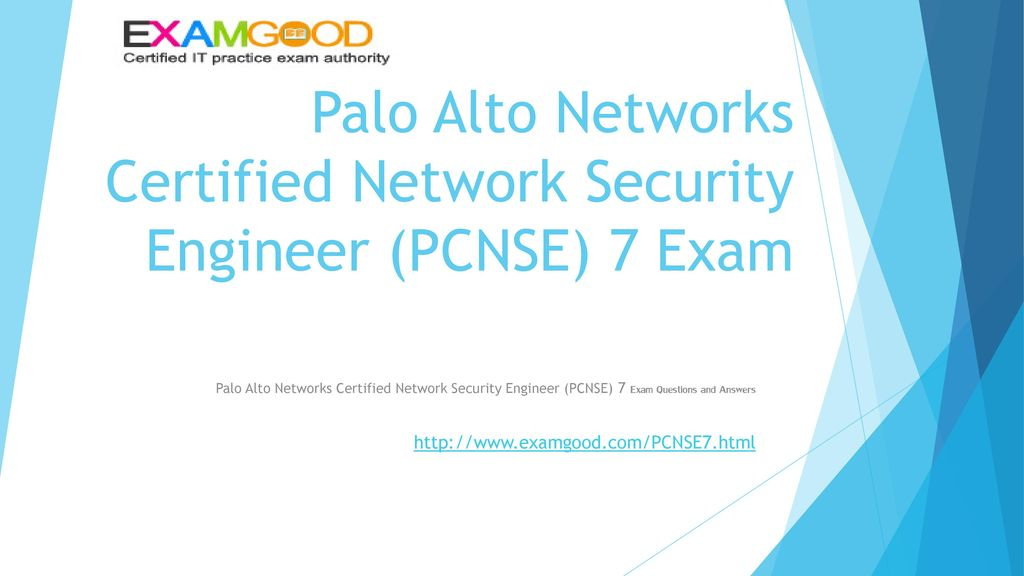 Palo Alto Networks Certified Network Security Engineer (PCNSE) 7 ...
