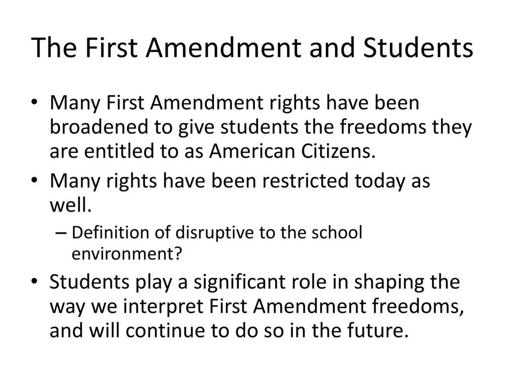 first amendment freedoms - ppt download
