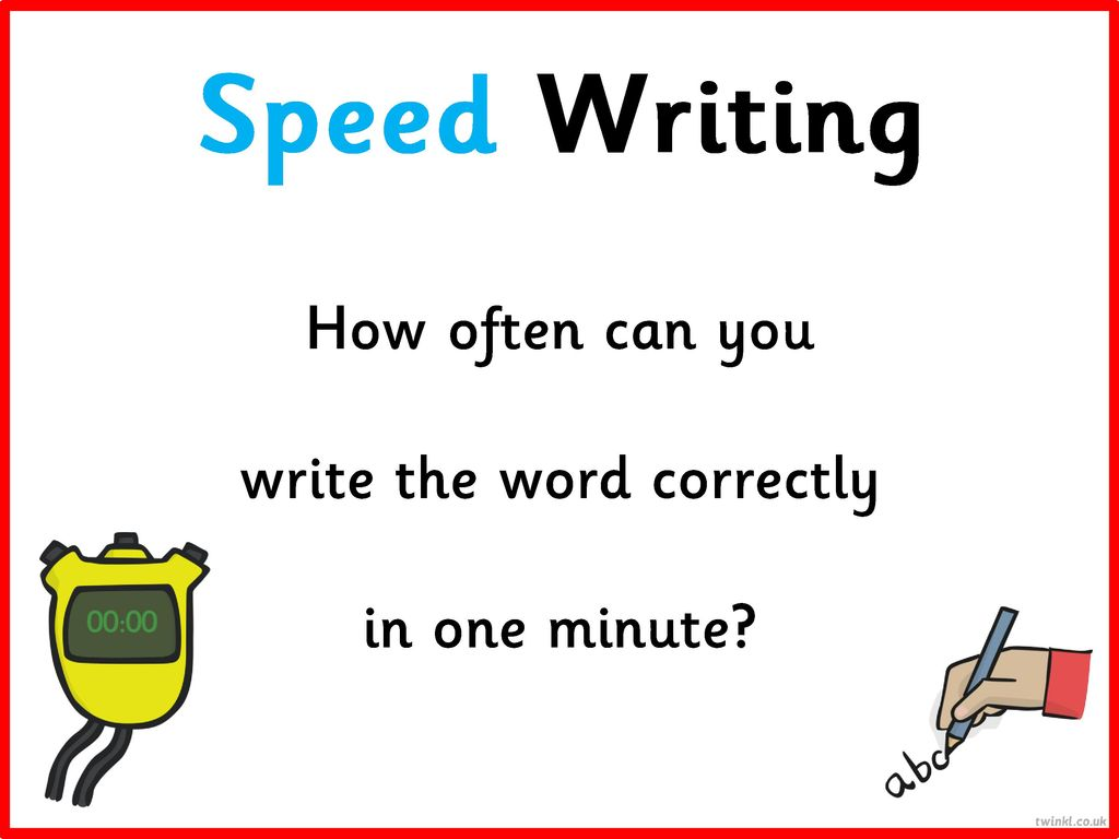 How to write a word correctly