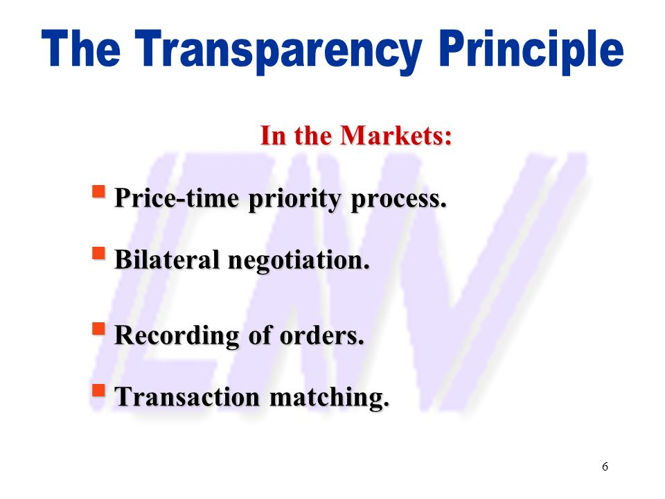 The Transparency Principle