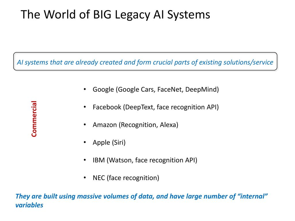 Knowledge Transfer Between legacy AI systems - ppt download