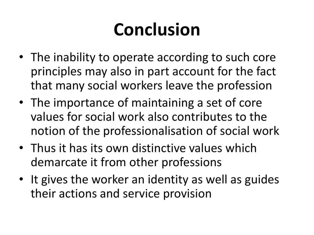 importance of values in social work