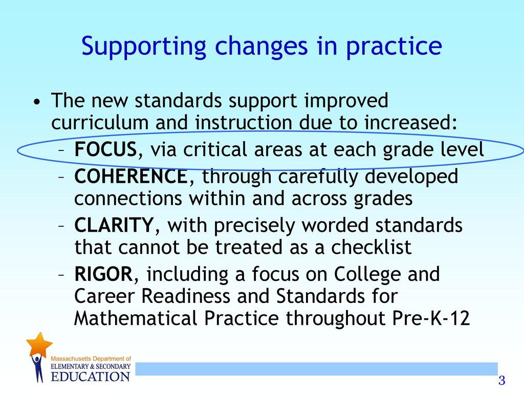 Exploring Focus in the 2011 MA Curriculum Framework for Mathematics ...