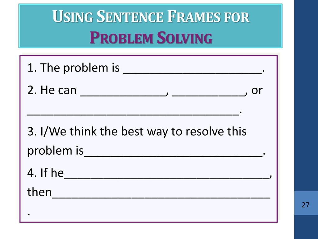 Writing With Scaffolds: Using Sentence and Paragraph Frames - ppt ...